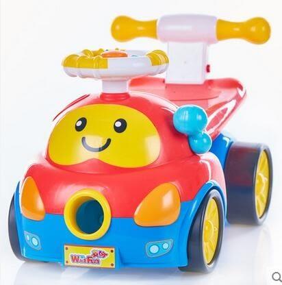 設計師美術精品館英紛噴噴樂踏行車 寶寶早教益智玩具 學步車手推車可坐可騎0818