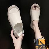 兩穿涼鞋女學生平底鞋一腳蹬軟底孕婦鞋夏【慢客生活】