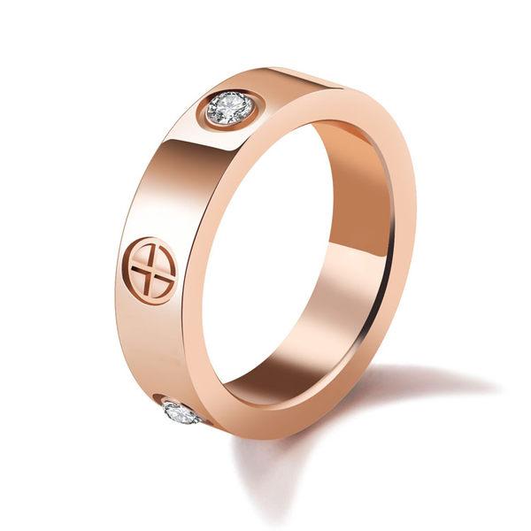 【5折超值價】新款時尚精美十字圖形鑲鑽女款鈦鋼戒指