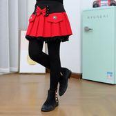女童2019秋冬褲兒童加絨加厚洋氣公主外穿褲子女孩假兩件打底裙褲-ifashion