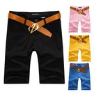 [現貨] 韓版百搭簡約口袋布標素色窄版薄休閒工作短褲‧八色【QZZZ2007】