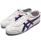 Asics 復古慢跑鞋 Mexico 66 白 藍 紅 皮革 金標 低筒 休閒鞋 基本款 男鞋 女鞋 亞瑟士【ACS】D507L0152