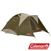 【美國Coleman】綠橄欖版 4-6人透氣圓頂露營帳IV套裝組 CM-33799 露營 戶外 家庭帳 天幕帳