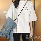 白色t恤女純棉韓版新款春夏女裝半袖寬鬆刺繡字母短袖上衣潮 小時光生活館
