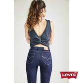 [買1送1]Levis 女款 711 中腰緊身窄管牛仔長褲 / 亞洲版型 / 原色基本款 / 高彈力布料
