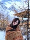 復古民族風雪山圍巾稻城亞丁西藏新疆旅游秋冬保暖披肩加厚圍脖女 黛尼時尚精品