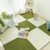 兒童爬行墊30*0.6送邊絨面拼接地毯臥室滿鋪床邊方形地板墊子寶寶爬行墊拼圖泡沫墊家用wy