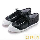 限時特賣-ORIN 休閒舒適 百搭素面綁帶休閒平底鞋-黑色
