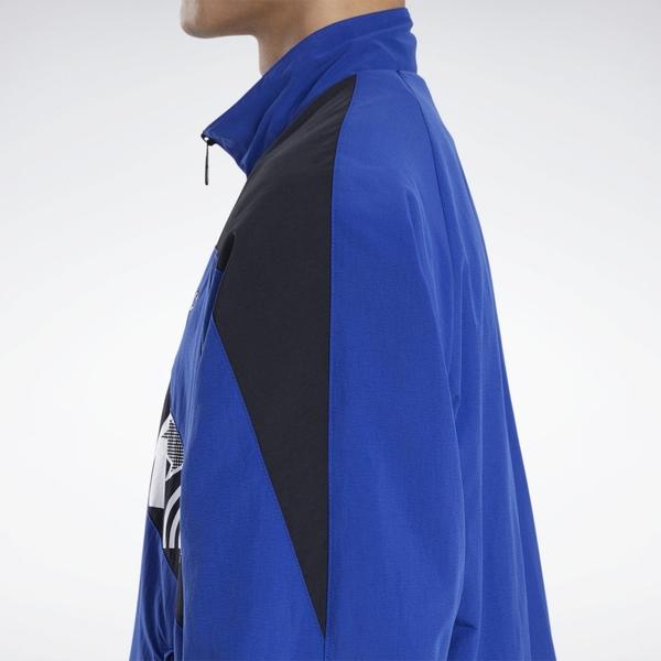 REEBOK BLACK EYE PATCH 男裝 女裝 外套 立領 休閒 街頭 拉鍊口袋 藍【運動世界】GM8327