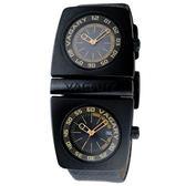 VAGARY雙錶盤計時腕錶-黑