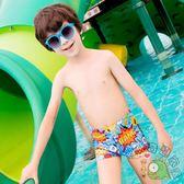 兒童泳褲寶寶嬰兒泳衣男童小童平角溫泉泳褲可愛游泳套裝【七夕8.8折】