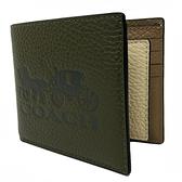 【COACH】大馬車 LOGO配色8卡活動證件夾男短夾(大馬車/橄欖綠)