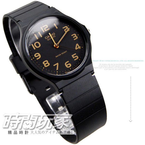 MQ-24-1B2 CASIO卡西歐 手錶 黑色 33mm 膠帶 34mm 男錶 女錶 時間玩家 MQ-24-1B2LDF
