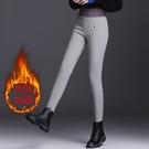 高腰冬裝緊身褲子 韓版冬季保暖鉛筆褲 運動潮流長褲 女士外穿加厚打底褲 女生休閒褲窄管褲