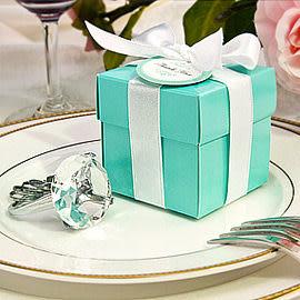 婚禮小物-歐美同步流行-Tiffany經典藍鑽戒鑰匙圈-伴娘禮/活動禮/送客禮/抽獎/贈品 幸福朵朵