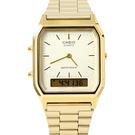 CASIO卡西歐方型金色雙顯腕錶【NEC67】