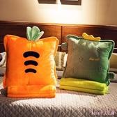 辦公室抱枕被子兩用靠枕車內靠墊毛毯子午睡枕頭夏涼被三合一神器 XN1313