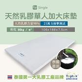 Toptex Single 7.5公分天然乳膠單人加大床墊