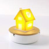 療癒系 桌燈 《Vacii》Homi 7800mAh行動電源+LED黃色小屋夜燈組【H&D DESIGN】