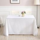 桌布桌墊白色布藝訂製圓形臺布酒店餐廳飯店圓純色長方形會議 【快速出貨】