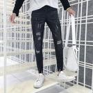FINDSENSE H1 2018 夏季 新款 青春 潮男 小腳 九分牛仔褲
