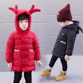 羽絨外套 男童新品正韓秋冬加厚雙排扣兒童男寶寶中小童長款潮
