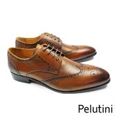 【Pelutini】都會雅仕雕花德比紳士鞋 咖啡色(9125-BR)
