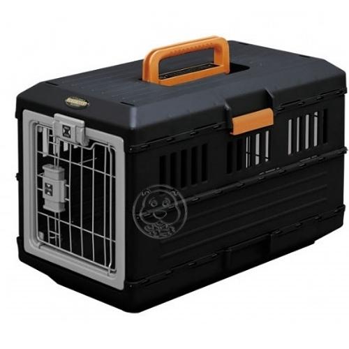 【培菓平價寵物網】【IRIS】折疊收納式運輸提籠FC-550 灰黑色