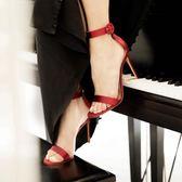 夏季黑色顯瘦細跟百搭潮高跟涼鞋PLL4681【3C環球數位館】