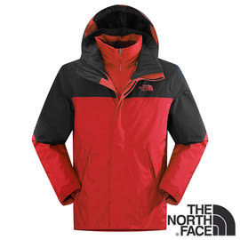 The North Face 男 Gore-tex 羽絨兩件式外套 紅/瀝灰 CTS2 羽絨外套 防風外套