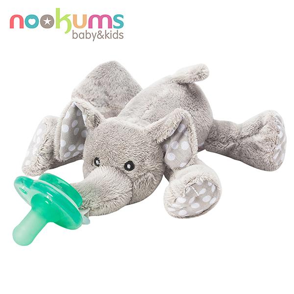 美國 nookums 寶寶可愛造型安撫奶嘴/玩偶-小灰象 620元