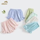 童短褲女寶寶打底褲男童夏季薄款嬰兒開襠褲