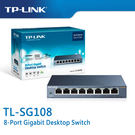 【免運費】TP-LINK  TL-SG108  8-Port Gigabit  商用 非管理型  交換器