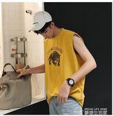 男士韓版打底運動汗衫背心青年休閒寬鬆無袖T恤  夢想生活家