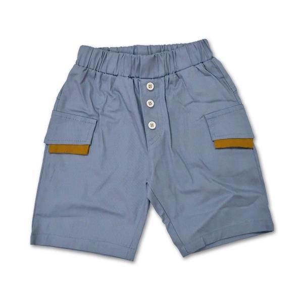男童短褲 灰色平織短褲 [98040]RQ POLO 5-17碼 春夏 童裝 現貨