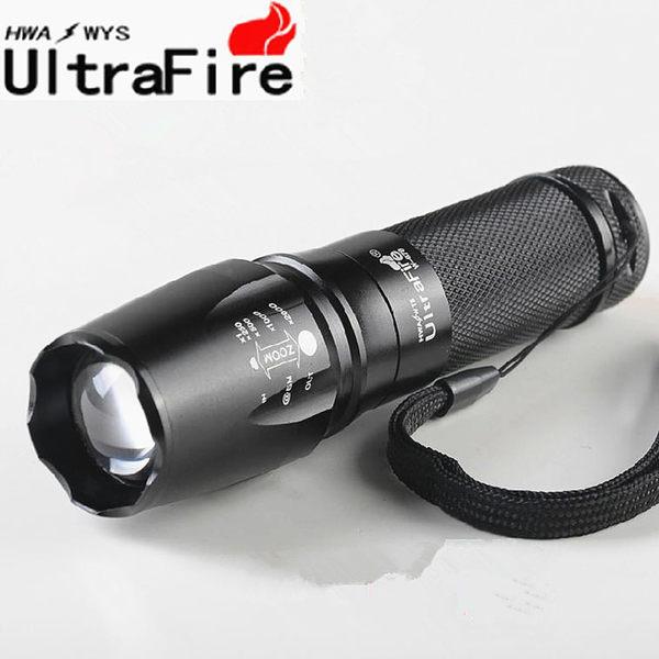 超強遠射王 XML-T6 LED 強光手電筒 爆亮伸縮變焦手電筒 大型魚眼燈頭光學凸透鏡【花赤Run】