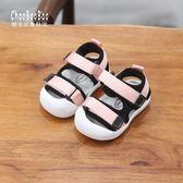 夏季新款男女寶寶包頭涼鞋軟底0-1-2歲男女童學步鞋夏天嬰兒涼鞋    韓小姐