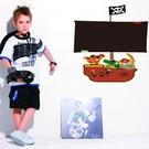 壁貼 DIY創意無痕 牆貼 貼紙【半島良品】-海盜船黑板