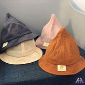 春夏寶寶漁夫帽兒童巫師帽休閒帽子男女童盆帽貼標純色遮陽帽  無糖工作室