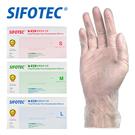 【SIFOTEC】無粉 PVC 塑膠檢診手套 S/M/L (100入/盒x1)