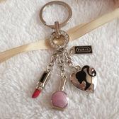 正韓時尚包扣巴黎女人汽車鑰匙扣女士掛件 鑰匙 圈【快速出貨八五折】