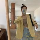 大碼百搭寬鬆開衫薄款西服休閒西裝外套女【繁星小鎮】
