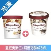 哈根達斯夏威夷果仁+淇淋巧酥冰淇淋473ML【愛買冷凍】
