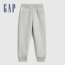 Gap女幼童 Logo絎縫式鬆緊運動褲 614523-淺灰色
