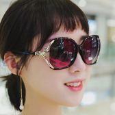2019新款太陽鏡韓版防紫外線墨鏡復古女士長臉圓臉司機開車眼鏡潮 滿天星