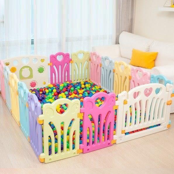 麻麻乖寶貝 ST認證 兒童圍欄 遊戲圍欄 護欄 柵欄 門欄 遊戲池 16片 (14小+2大)-003501