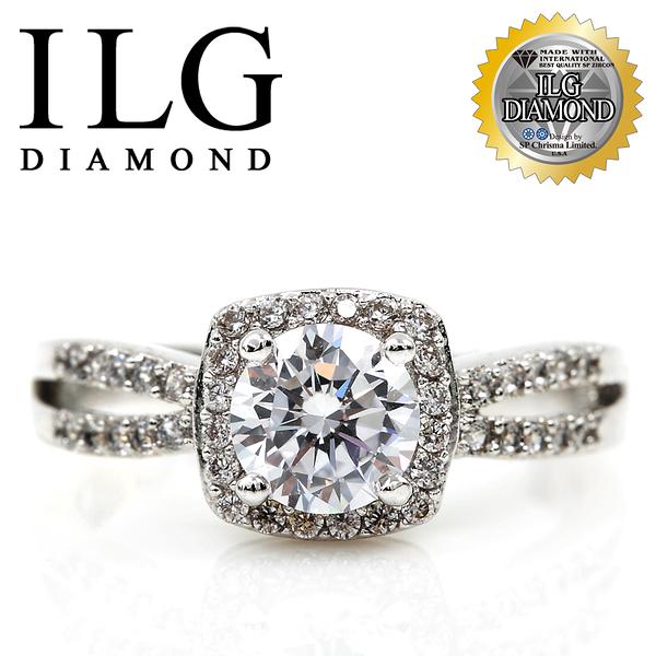 【ILG鑽】頂級八心八箭擬真鑽石戒指-威尼斯戀人 RI083 主鑽75分 精美細緻熱銷款