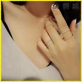 戒指 簡約滿鑽排鑽鋯石細款士戒指鑽戒尾戒
