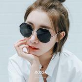 太陽眼鏡眼鏡八角不規則多邊形太陽鏡女士潮新款粉色圓臉墨鏡 喵小姐