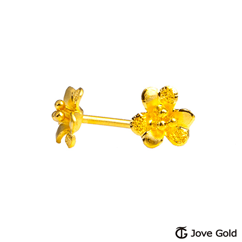 Jove gold 漾金飾 美人心黃金耳環
